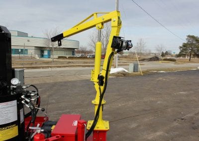 Hoist with 12-volt winch on Falcon hot mix heater trailer 3